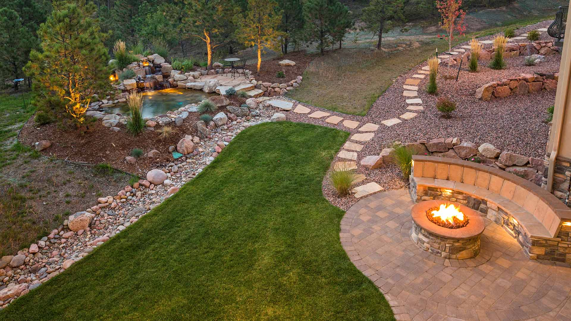 This fire pit in Millstadt, IL will provide enjoyment for the homeowners.