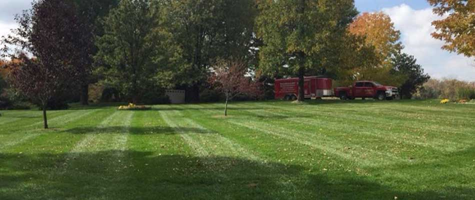 We recently aerated this lawn in Columbia, IL.