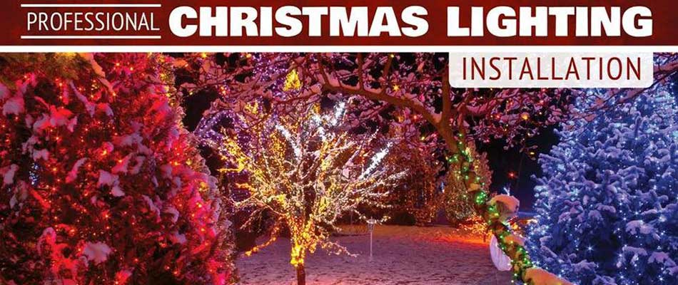 Our professional Christmas light installations in Columbia, IL illuminate your property in a festive way.