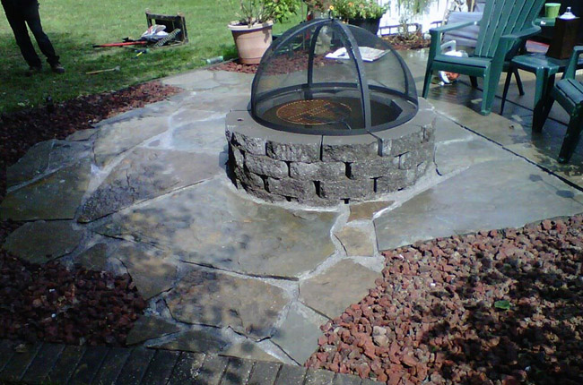 Pricing for fire pit install in the Millstadt, IL area.