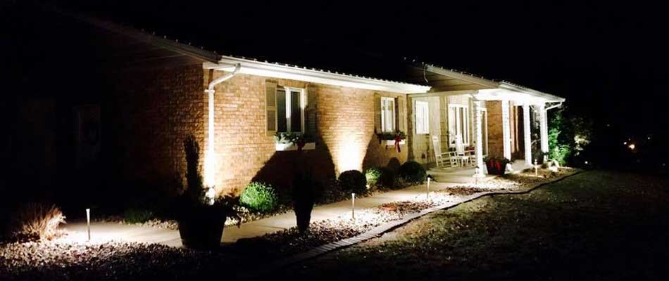Outdoor Lighting Services In Columbia Waterloo Millstadt Il Linnemann Lawn Care Landscaping